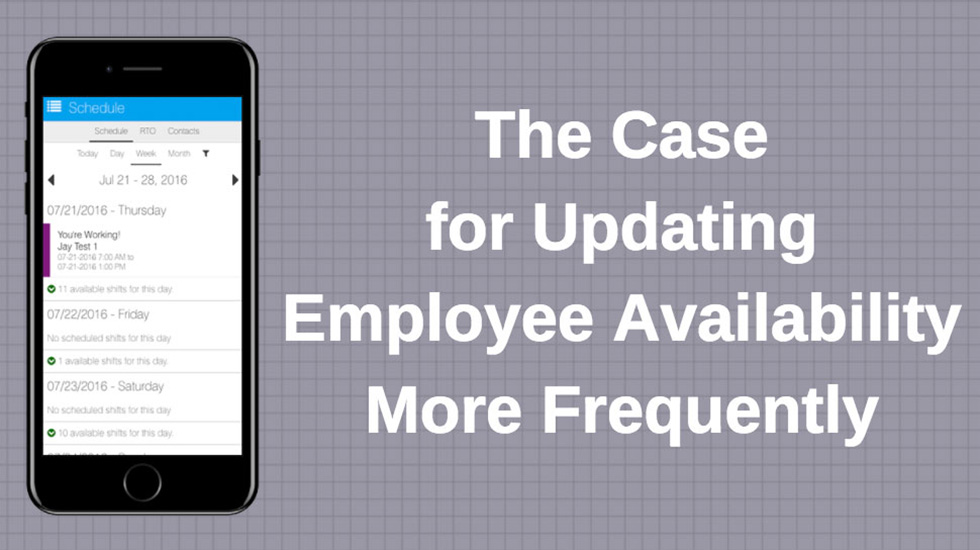 updating employee availability frequently